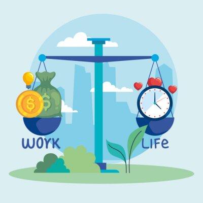 Fototapete work and life balance