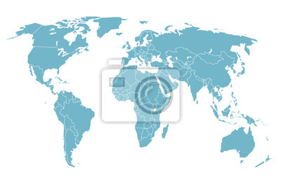 World map in perspective. vector illustration fototapete ...