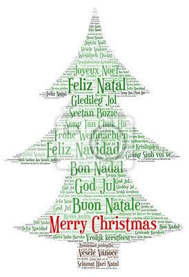 Frohe Weihnachten In Allen Sprachen.Fototapete Worte Wolke Frohe Weihnachten In Allen Sprachen Der Welt