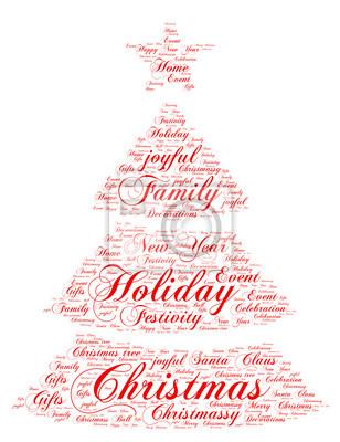 Weihnachten Wörter.Fototapete Wörter Wolke Weihnachten Konzept Weihnachtsbaum Form