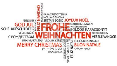 Fototapete Wortwolke Frohe Weihnachten Auf Deutsch