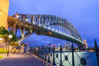 Fototapete Wunderschöne Nacht Skyline von Sydney, Australien