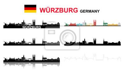 Fototapete Würzburg Großes Set