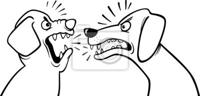 Wütend Bellenden Hunden Ausmalbilder Fototapete Fototapeten Färben
