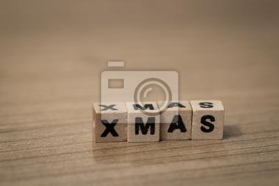 X-Mas in wooden cubes