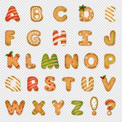 Xmas Gingerbread Cookie Alphabet