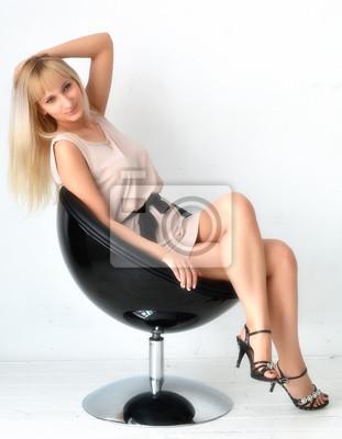 Большой жопа, сексуальная молодая блондинка
