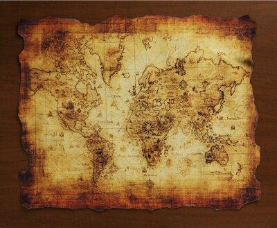 Fototapete 宝 の 地 図 / 古 い 地 図