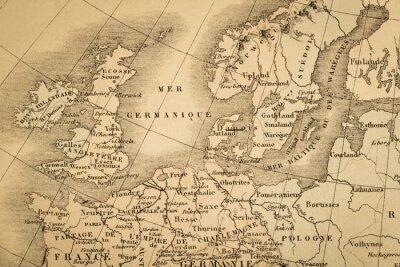 Fototapete アンティ ー ク の 世界地図ヨ ー ロッパ