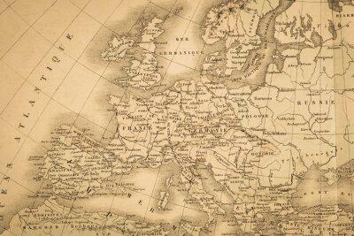 Fototapete アンティ ー ク の 世界地図ヨ ー ロッパ大陸