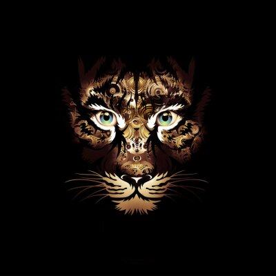 Fototapete яркий абстрактный фон с тигром
