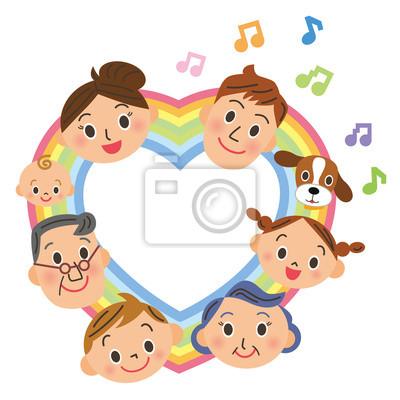 ハート の 虹 と 家族