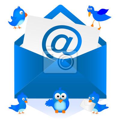 Fototapete メール と 青い 鳥