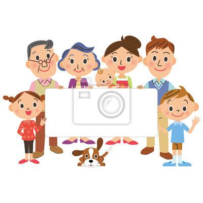 家族 と メッセージ ボード