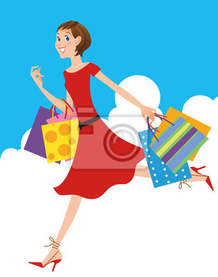 ショッピング する 女性