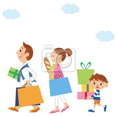 家族 と ショッピング