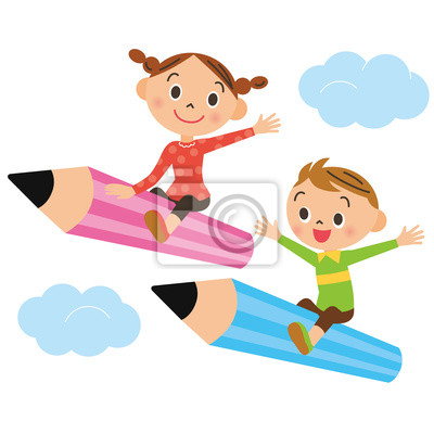 子供 と 鉛筆