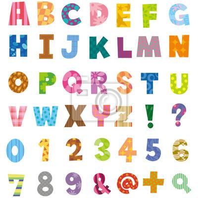 アルファベット, 数字