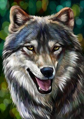 Fototapete Волк
