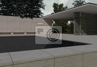 Deutscher Pavillon Barcelona Mies Van Der Rohe Fototapete