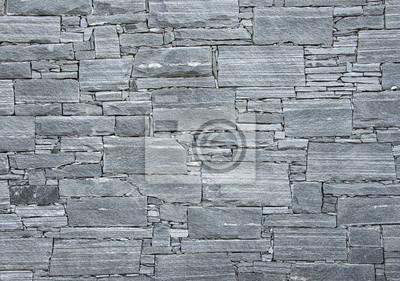 Fototapete: Harte steine wand grau textur in der nähe ansicht