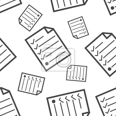 fototapete hecklist nahtlose muster business konzept dokument kontrollkstchen piktogramm vektorabbildung auf weiem hintergrund - Konzept Muster