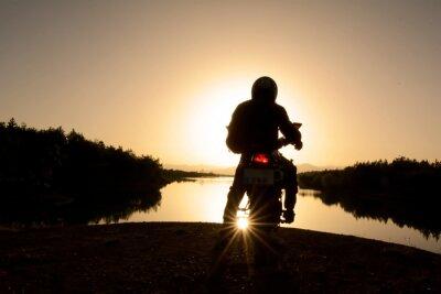 Fototapete motorsiklet ile doğa turu