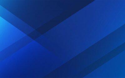 Fototapete シンプルなブルーの抽象、斜めのグラデーションライン、背景素材、ベクター素材