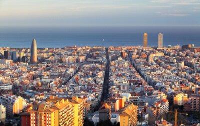 Fototapete Stadtbild von Barcelona, Spanien