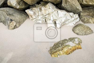 Fototapete Steine gestapelt auf Sand