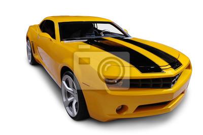 Fototapete Yellow American Sports Car