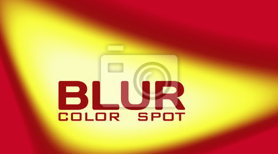 Fototapete Yellow blur color spot with gradient on rec background. Color vector graphic pattern