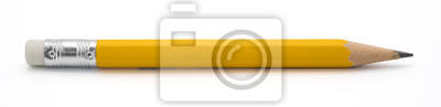 Fototapete yellow pencil isoalted on white background with clipping path.