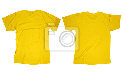 Fototapete Yellow T Shirt Template