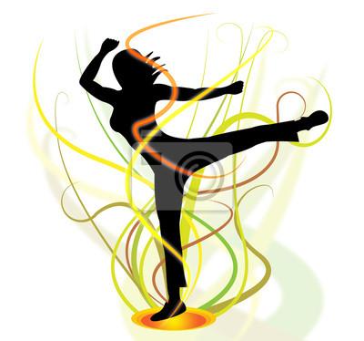 Fototapete Yoga-Haltung Vertretungen Gesundheit Posen und Übung