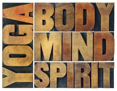 Fototapete Yoga, Körper, Geist, Seele und Geist