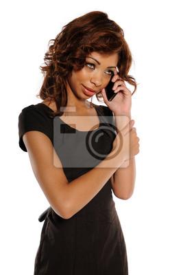 Young African American Geschäftsfrau auf dem Handy