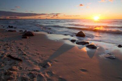 Fototapete Zachód słońca nad morzem Bałtyckim