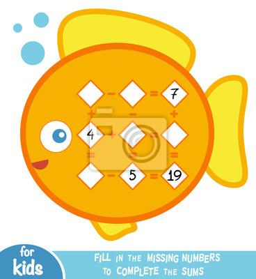 Zählspiel für kinder. pädagogisch ein mathematisches spiel. addition ...