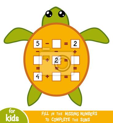 Zählspiel für kinder. pädagogisch ein mathematisches spiel ...