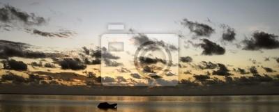 Zanzibar Beach Panorama bei Sonnenaufgang