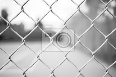 Zaun Draht Metall Kette Netz Link Netz Muster Fototapete