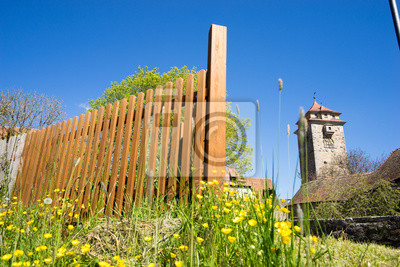 Zaun Holz Fototapete Fototapeten Palisaden Streikposten Gitter