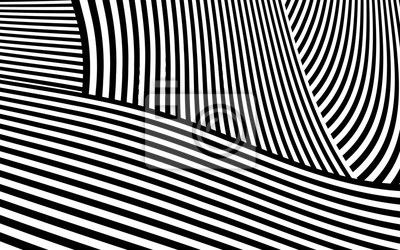 Fototapete Zebra Design Schwarz Weiß Streifen Vektor