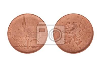 Zehn Tschechische Kronen Münze Fototapete Fototapeten Brno