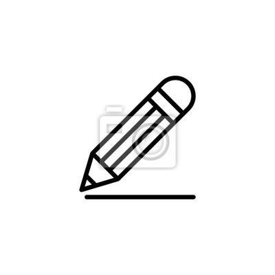 Fototapete Zeichnung Bleistift Linie schwarz Symbol