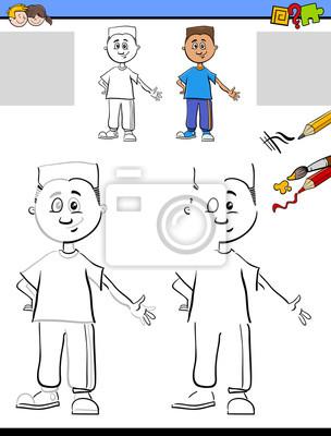 Zeichnung und färbung für kinder fototapete • fototapeten Teenager ...