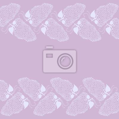 Zeichnung von lila Zweig Blumen in violetten Farben