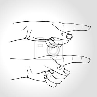 Zeigefinger, Hand mit ausgestrecktem Zeigefinger