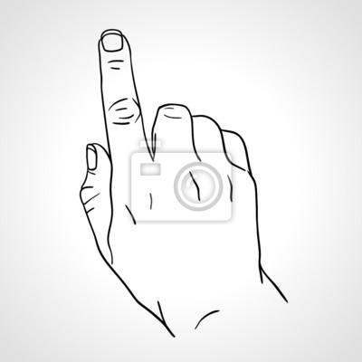 Zeigefinger, Zeigefinger Drücken der Taste